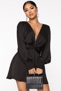 Don't Put It Past Me Romper - Black Angle 2