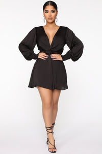 Don't Put It Past Me Romper - Black Angle 1