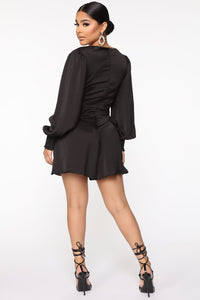 Don't Put It Past Me Romper - Black Angle 3