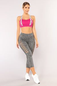 Babe In Training Leggings - Grey