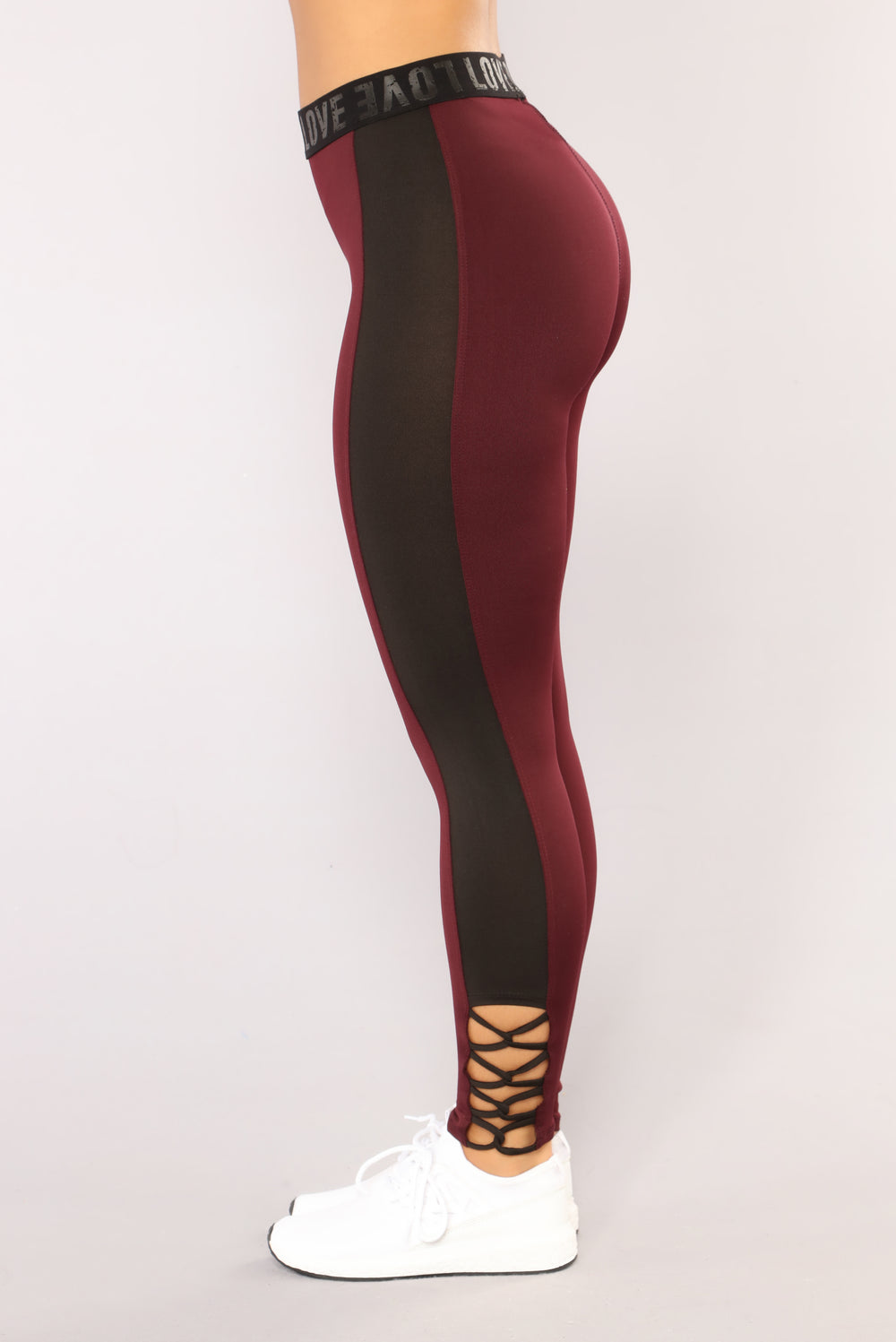 Different Kind Of Love Leggings - Burgundy