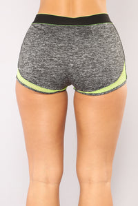 High Impact Active Shorts - Grey Angle 5