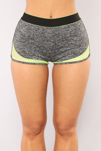 High Impact Active Shorts - Grey Angle 1