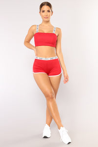 Love Me Tender Shorts - Red