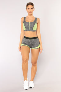 High Impact Active Shorts - Grey Angle 2