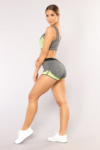 High Impact Active Shorts - Grey Angle 4