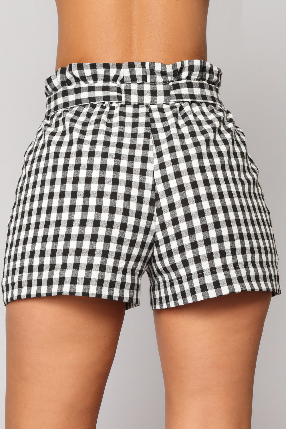 Perfect Weather Gingham Shorts - Black