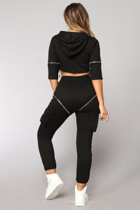 Gigi Athleisure Set - Black