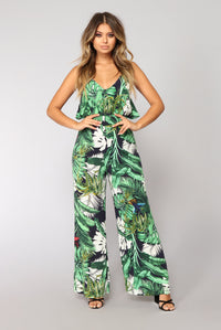 Bora Bora Jumpsuit - Green Multi