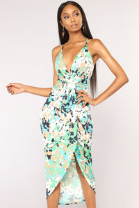 Aberdeen Floral Dress - Jade