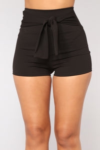 Tie Me Up Shorts - Black Angle 2