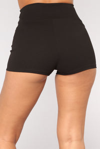 Tie Me Up Shorts - Black Angle 6