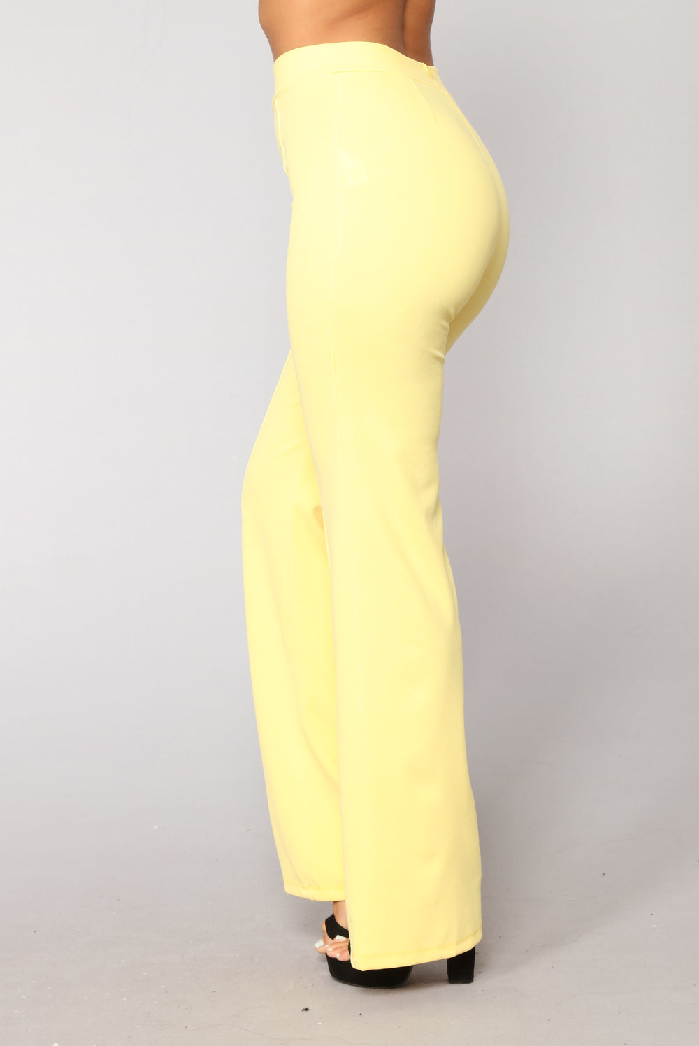 Victoria High Waisted Dress Pants - Yellow