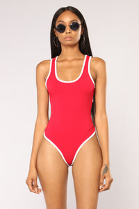 No Doubt About It Bodysuit - Red