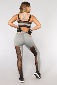 Flip It And Reverse It Performance Leggings - Grey/Black