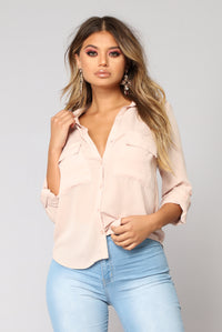 Pocket Full Of Sunshine Long Sleeve Top - Mauve