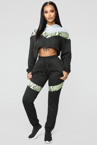 Wildin' Out Lounge Jogger - Black Multi