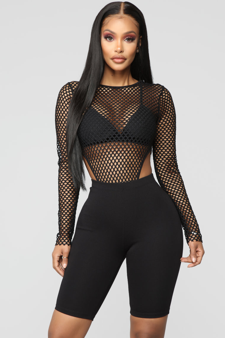 Figure It Out Bodysuit - Black