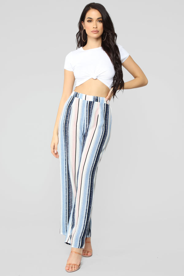 a0a4ee48c884 Better Than You Striped Pants - Navy Multi