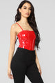 Time For Trouble Bodysuit - Red