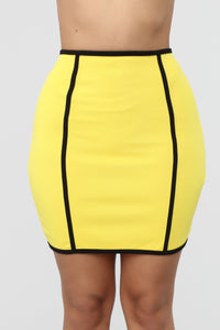 All The Play Skirt Set - Yellow/Black