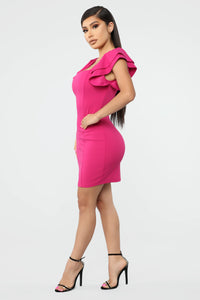 More Than You Can Handle Mini Dress - Magenta