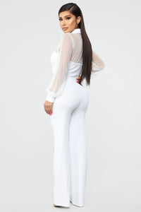 Brag About It Jumpsuit - White