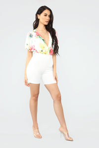 In Bloom Floral Bodysuit - White/combo