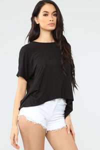 Chillin' This Weekend Top - Black