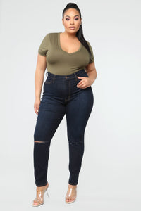 All Or Nothing Skinny Jeans - Dark Wash