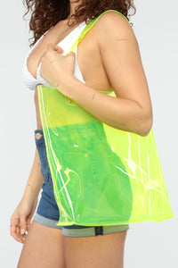 See Right Through You Tote - Yellow