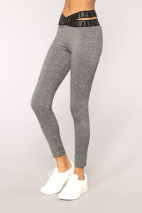 Running On Love Active Leggings - Grey
