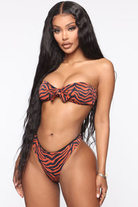 Sweet Waves Tube Top 2 Piece Bikini - Brown/combo Angle 1