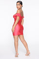 London Lover Mini Dress - Coral