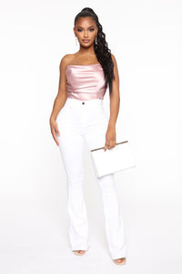 Deep In My Soul Flare Jeans - White Angle 2