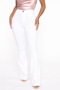 Deep In My Soul Flare Jeans - White Angle 1