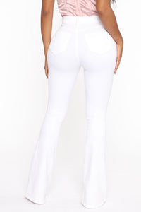 Deep In My Soul Flare Jeans - White Angle 3