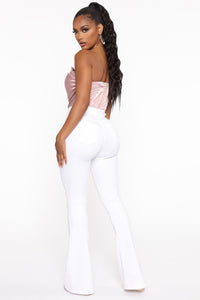 Deep In My Soul Flare Jeans - White Angle 4