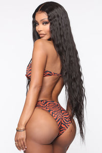 Sweet Waves Tube Top 2 Piece Bikini - Brown/combo Angle 2