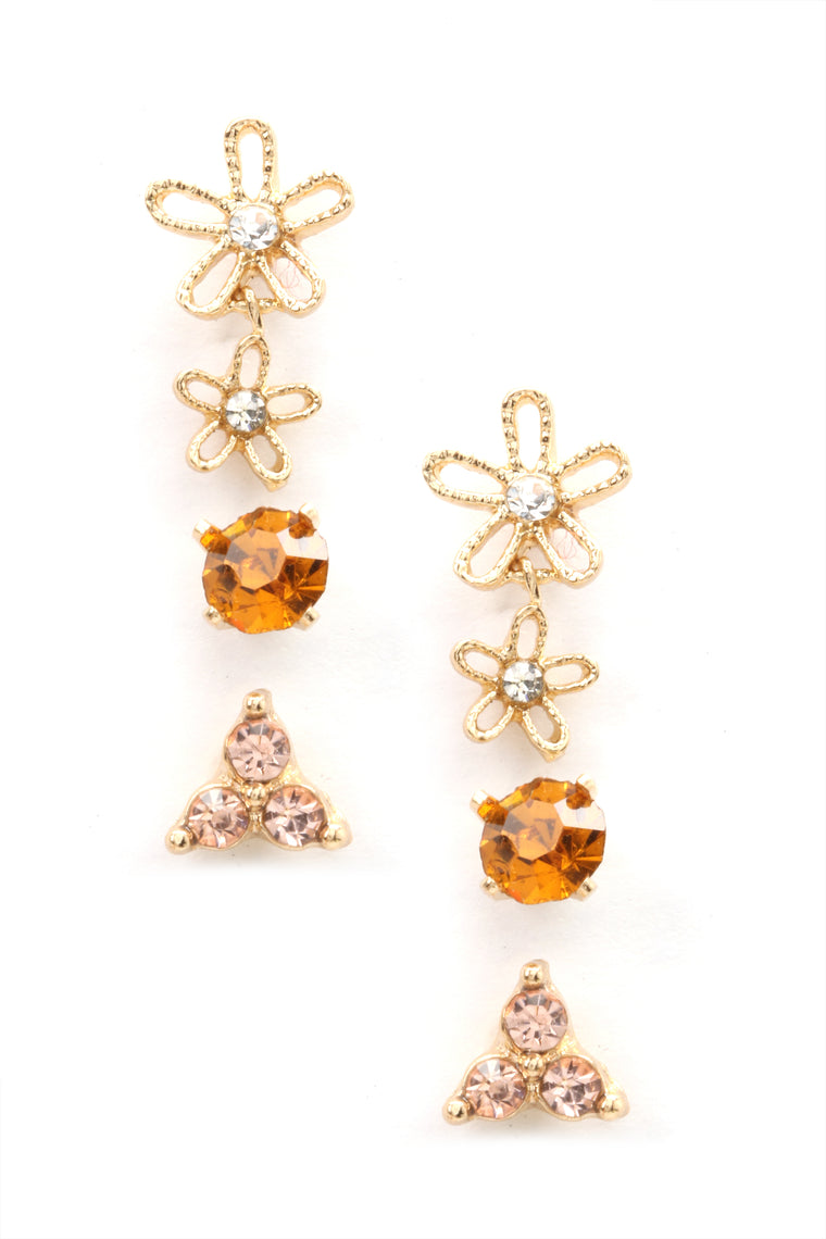 Call Me In 3 Earring Set - Gold