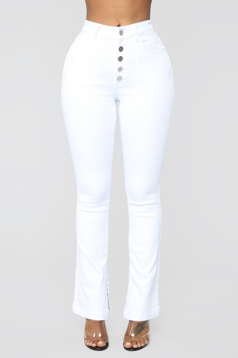 No One Like You High Rise Jeans - White