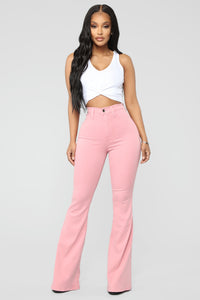 Bell Bottom Blues Jeans - Mauve