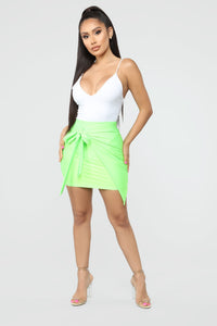 Top Model Wrap Skirt - Green Angle 1