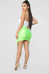 Top Model Wrap Skirt - Green Angle 6