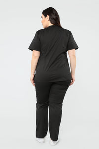 Pulse Scrub Top - Black