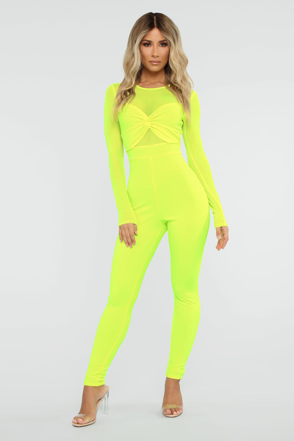 3d74522779c4 Knot So Simple Jumpsuit - Neon Yellow