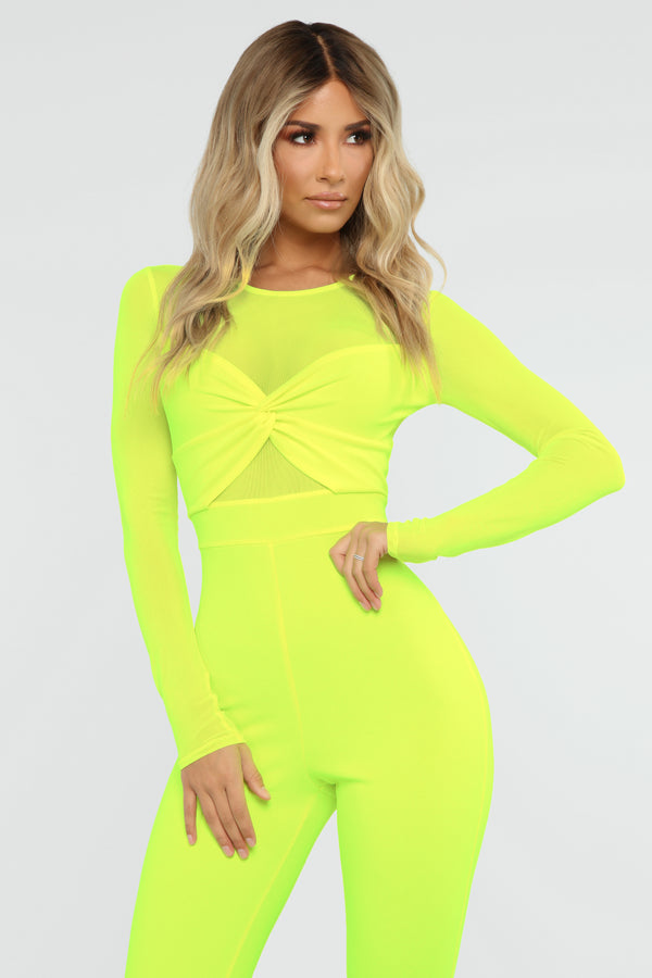 0cb4756676d0 Knot So Simple Jumpsuit - Neon Yellow
