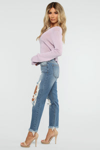 Borrowed My Boyfriend Jeans - Dark Denim