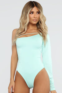 All Of A Sudden Bodysuit - Mint Angle 1
