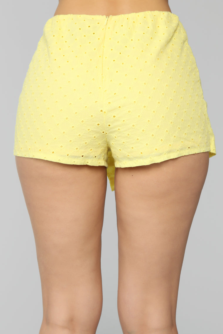 Afternoon Tea Button Skort - Yellow